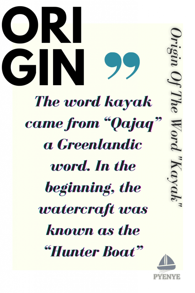 Origin Of The Word Kayak and Kayaking