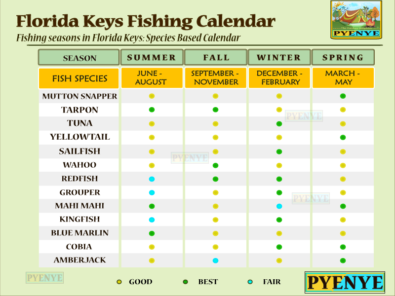 Florida Keys Fishing Calendar