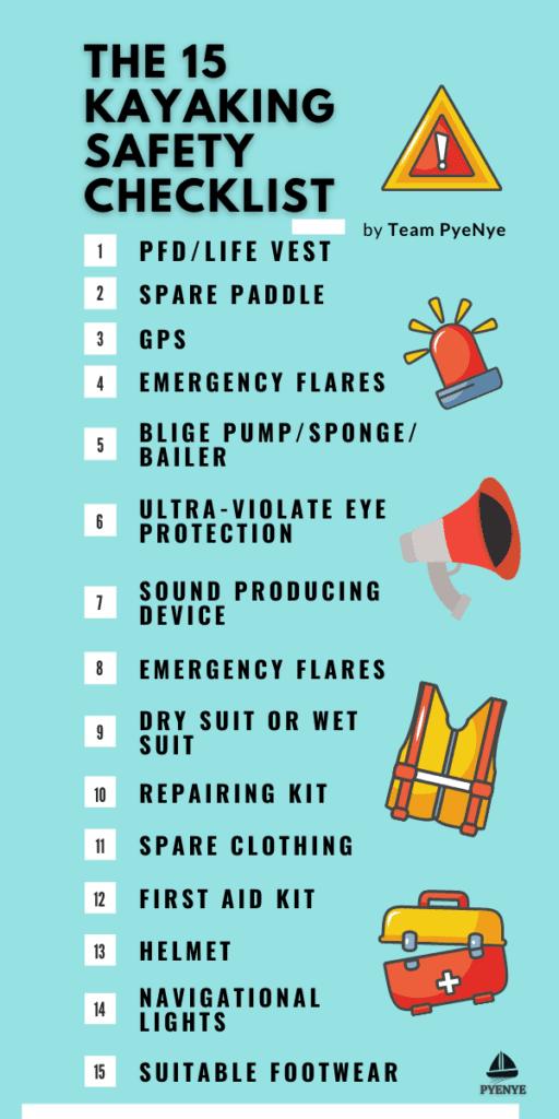 The 15 Kayaking Safety Checklist, kayaking safety, safety checklist for kayaking, kayaking safety tips