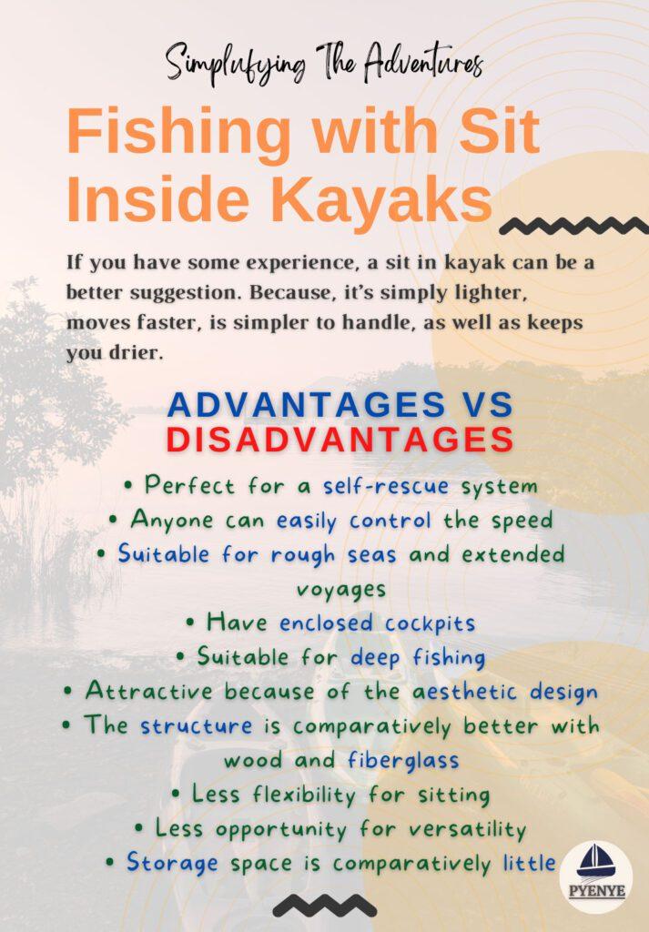 Fishing with Sit Inside Kayaks, Sit In kayak, Sit in kayak fishing, Fishing with sit in kayak, sit in vs sit on kayak, sit inside vs si on kayak, sit inside vs sit on top kayak