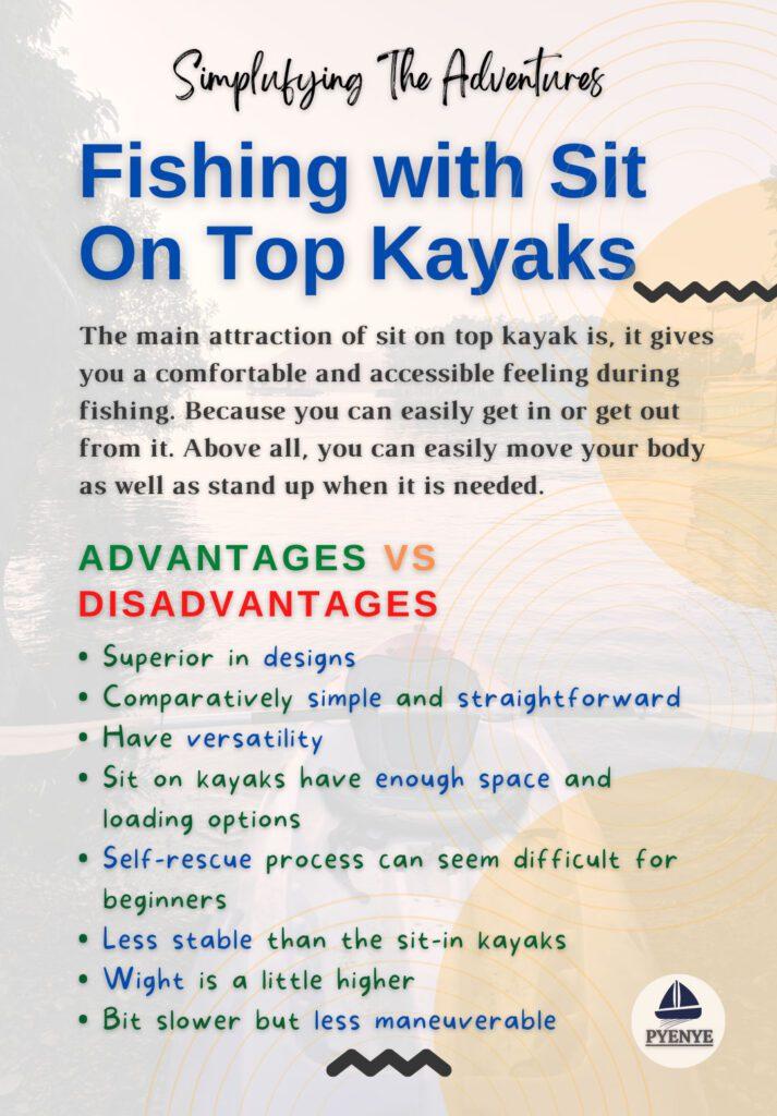 Fishing with Sit On Top Kayaks, Sit on kayak, Sit on kayak fishing, Fishing with sit on kayak, sit in vs sit on kayak, sit inside vs sit on kayak, sit inside vs sit on top kayak
